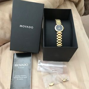 Movado Gold Serenade Swiss Quartz Watch